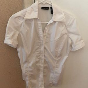 Short sleeve white blouse size S